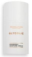 Parfumuri și produse cosmetice Ночной гликолевый крем для лица - Revolution Skincare Glycolic Overnight Moisture Cream