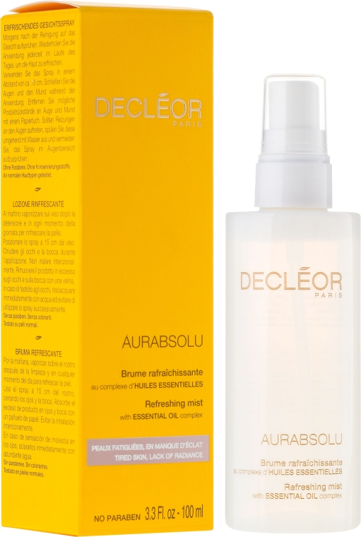 Soluție pentru față împotriva petelor pigmentare - Decleor Aurabsolu Refreshing Mist