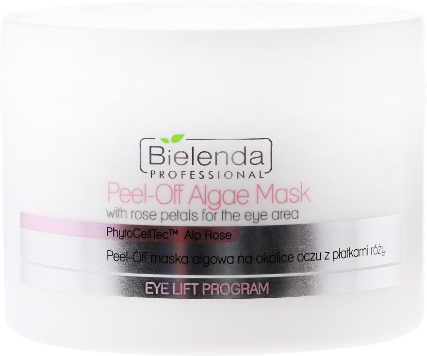 Mască cu alge și petale de trandafir pentru zona ochilor - Bielenda Professional Eye Lift Program Peel-Off Algae Mask