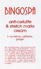 Духи, Парфюмерия, косметика Крем от целлюлита и растяжек с L-карнитином, кофеином и имбирем - BingoSpa Cream For Cellulite