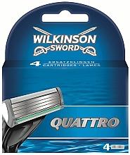 Parfumuri și produse cosmetice Cartușe de schimb, 4 bucăți - Wilkinson Sword Quattro Cartridge Razor Blades