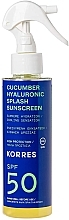 Parfumuri și produse cosmetice Spray cu protecție solară - Korres Cucumber Hyaluronic Splash Sunscreen SPF50