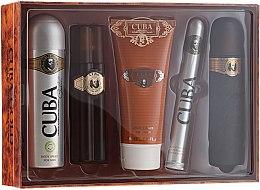 Parfumuri și produse cosmetice Cuba Gold - Set (edt/100ml + deo/200ml + ash/balm/100ml + sh/gel/200ml + edt/35ml)