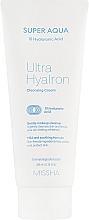 Parfumuri și produse cosmetice Cremă de curățare cu acid hialuronic pentru față - Missha Super Aqua Ultra Hyalron Cleansing Cream