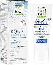 Parfumuri și produse cosmetice Fluid pentru față - So'Bio Etic Aqua Energie Detoxifying Fluid Night