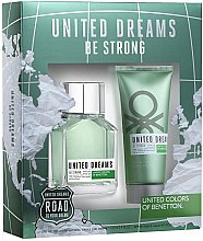 Parfumuri și produse cosmetice Benetton United Dreams Be Strong - Set (edt/100ml + ash/balm/100ml)