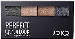 Parfumuri și produse cosmetice Fard de ochi cu 4 nuanțe - Joko Perfect Your Look Quattro Eye Shadows New
