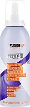 Parfumuri și produse cosmetice Spumă de păr - Fudge Clean Blonde Violet Xpander Foam