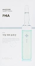 Parfumuri și produse cosmetice Peeling-mască pentru față - Missha Peeling Solution Sheet Mask