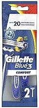 Parfumuri și produse cosmetice Set aparate de ras de unică folosință, 2 bucăți - Gillette Blue 3 Comfort