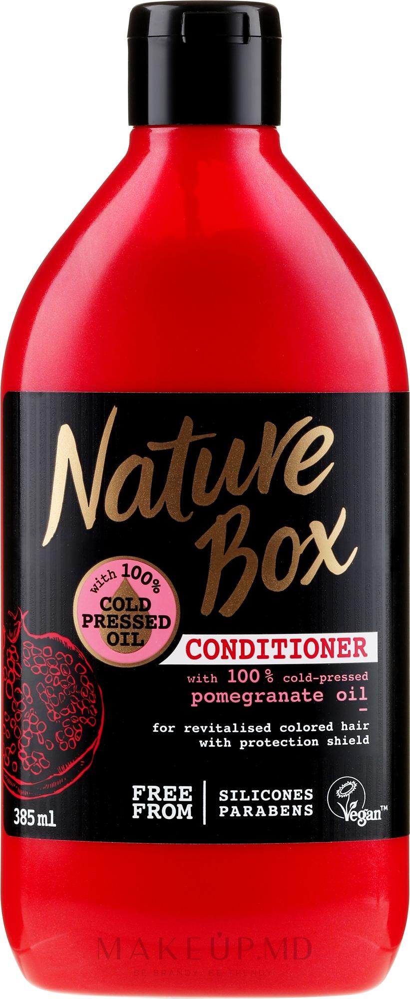 Balsam de păr - Nature Box Pomegranate Oil Conditioner — Imagine 385 ml
