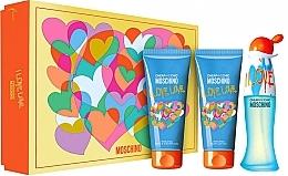 Parfumuri și produse cosmetice Moschino I Love Love - Set (edt/50ml + b/lot/100ml + sh/gel/100ml)