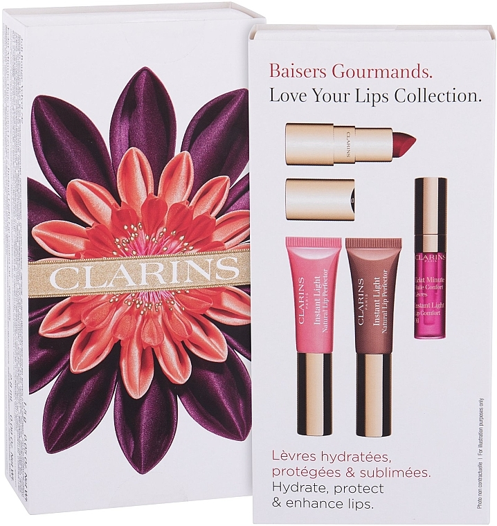 Set - Clarins Love Your Lips Collection (lip/balm/2x5ml + lip/pomade/1.5g + lip/oil/2.8ml)
