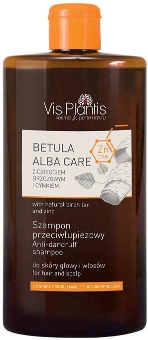 Șampon de păr cu gudron de mesteacăn și zinc - Vis Plantis Betula Alba Care Anti-Dandruff Shampoo