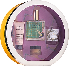 Parfumuri și produse cosmetice Set - Nuxe Culte Prodigieux Box (oil/100ml + h/cr/30ml + lip/balm/15ml + candle)