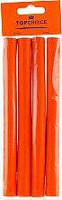 Parfumuri și produse cosmetice Bigudiuri pentru păr L, portocalii, 4 buc - Top Choice