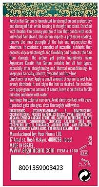 Ser cu keratină pentru păr - Arganicare Keratin Repairing Hair Serum — Imagine N3