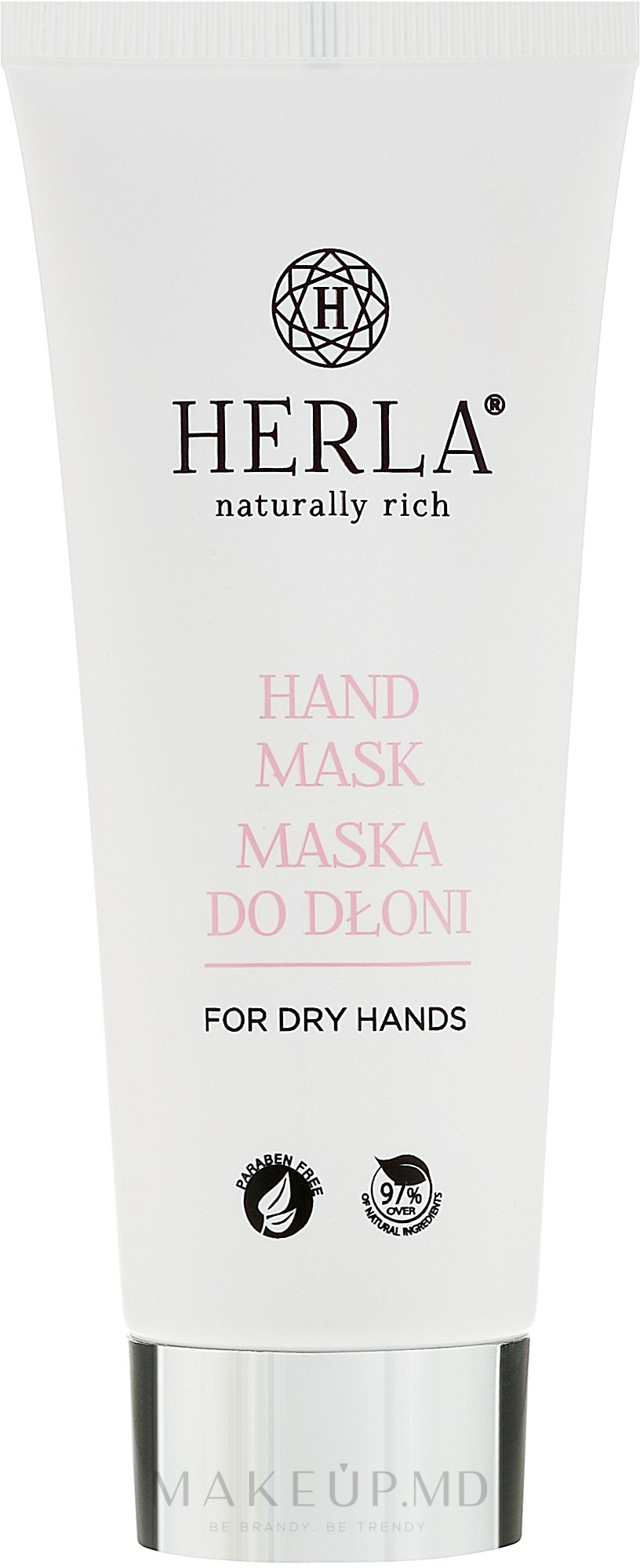 Mască hidratantă pentru mâini - Herla Hand Mask — Imagine 75 ml