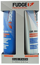Parfumuri și produse cosmetice Set - Fudge Cool Brunette Toning-Blue (shm/250ml+cond/250ml)