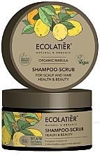 """Parfumuri și produse cosmetice Șampon scrub pentru păr și scalp """"Sănătate și frumusețe"""" - Ecolatier Organic Marula Shampoo-Scrub"""