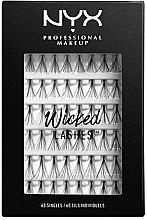 Parfumuri și produse cosmetice Set gene false, 60 bucăți - NYX Professional Makeup Wicked Lashes Singles