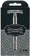 Parfumuri și produse cosmetice Aparat de ras + 5 lame înlocuibile - Wilkinson Sword Classic Double Edge