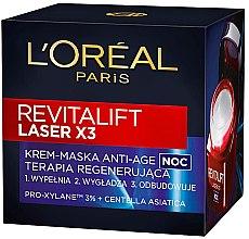 Parfumuri și produse cosmetice Cremă-mască de noapte regeneratoare - L'Oreal Paris Revitalift Laser X3 Night Cream-Mask