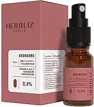 """Parfumuri și produse cosmetice Ulei spray pentru cavitatea bucală """"Căpșună"""" 2,5% - Herbliz CBD Oil Mouth Spray 2,5%"""