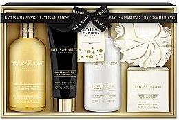Parfumuri și produse cosmetice Set - Baylis & Harding Sweet Mandarine and Grapefruit (b/lot/300ml + b/wash/300ml + soap/150g + sh/cr/130ml + sponge)