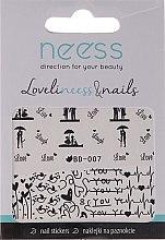 Parfumuri și produse cosmetice Abțibilduri pentru unghii, 3684, BD-007 - Neess