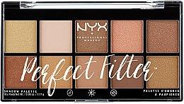 Parfumuri și produse cosmetice Paletă fard de ochi - NYX Professional Makeup Perfect Filter Shadow Palette