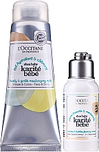 Parfumuri și produse cosmetice Set - L'Occitane Shea Baby Bath Set (sh/cr/75ml + b/milk/75ml)