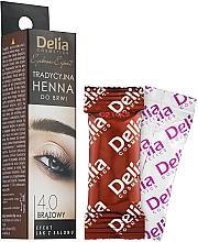 Parfumuri și produse cosmetice Vopsea pentru sprâncene pulbere, maro - Delia Brow Dye Henna Traditional Brown