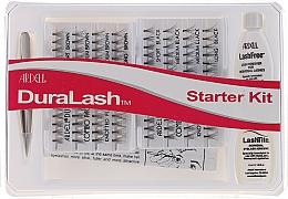 Parfumuri și produse cosmetice Set - Ardell Duralash Starter Kit Combo Black/Brown (lashes/112pcs + clay/5ml + tweezers/1pcs + remover/5ml)