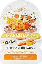 """Parfumuri și produse cosmetice Mască de față """"Morcov și curcuma"""" - Marion Fit & Fresh Carrot & Turmeric Face Mask"""