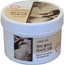 Parfumuri și produse cosmetice Cremă cu orez brun pentru masaj  - Lebelage Brown Rice Cleaning Massage Cream