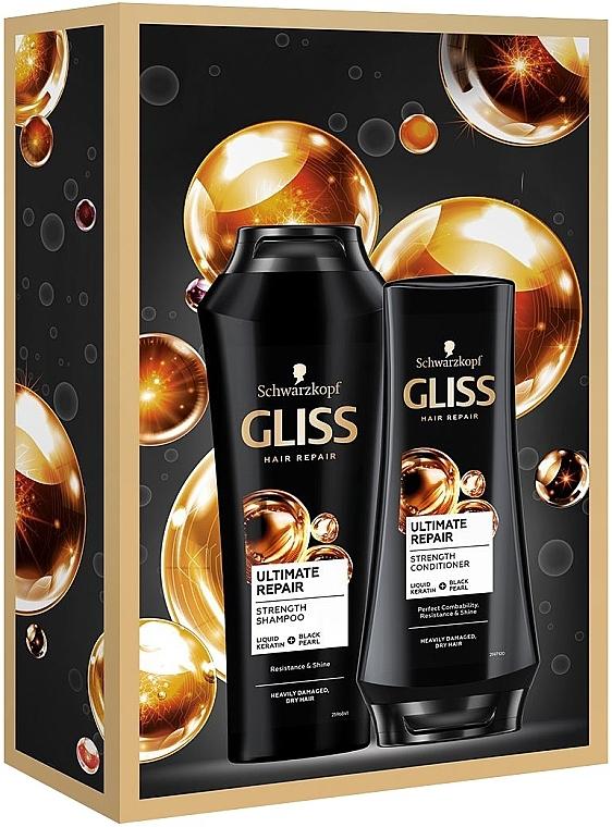 Набор - Schwarzkopf Gliss Kur Ultimate Repair Set (shm/250ml+hair/balm/200ml) — фото N1