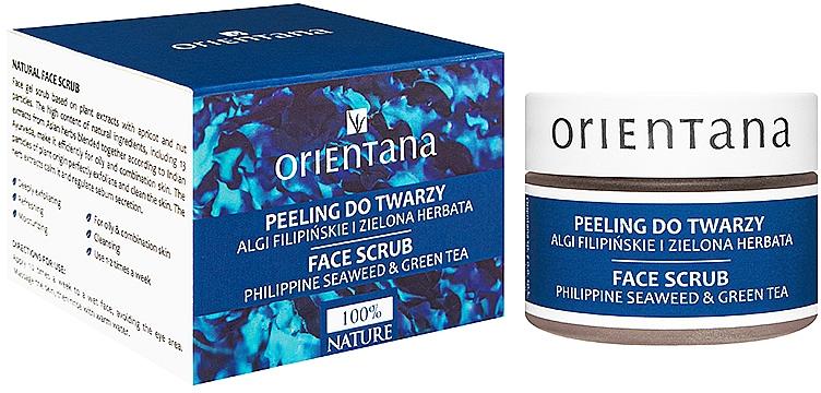 "Peeling-gel pentru față ""Alge marine și ceai verde"" - Orientana Natural Gel Face Scrub Philippine Seaweed & Green Tea — Imagine N1"