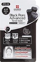 Parfumuri și produse cosmetice Mască cu cenușă de lemn pentru față - Leaders Ex Solution Black Pore Advanced Facial Mask