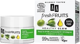 Parfumuri și produse cosmetice Pastă-peeling cu ulei de măsline pentru față - AA Fresh Fruits Healthy Glow