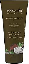 Parfumuri și produse cosmetice Cremă emolientă pentru picioare - Ecolatier Organic Coconut Foot Cream