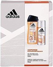 Parfumuri și produse cosmetice Set - Adidas Adipower Women (sh/gel/250ml + deo/spray/150ml)