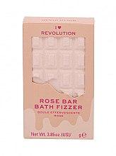 """Parfumuri și produse cosmetice Bombă de baie - I Heart Revolution Chocolate Bar Bath Fizzer """"Rose"""""""