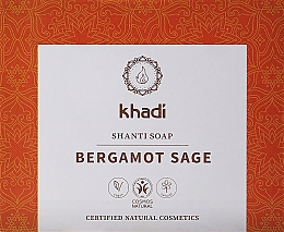 Parfumuri și produse cosmetice Săpun natural cu salvie și bergamotă - Khadi Bergamot Sage Shanti Soap