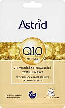 Parfumuri și produse cosmetice Mască hidratantă pentru față - Astrid Q10 Miracle Firming And Hydrating Sheet Mask