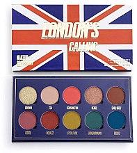 Parfumuri și produse cosmetice Paletă farduri de ochi, 10 nuanțe  - Makeup Obsession London's Calling Eyeshadow Palette