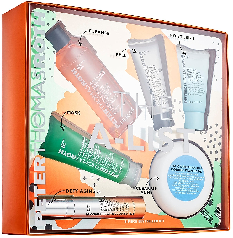 Set - Peter Thomas Roth A-List Kit (serum/10ml+peeling/15ml+clean/cr/20ml+patch/20pcs+mask/30ml+clean/gel/57ml) — Imagine N1