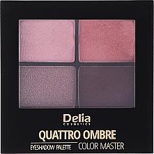 Parfumuri și produse cosmetice Fard de pleoape - Delia Quattro Ombre Color Master