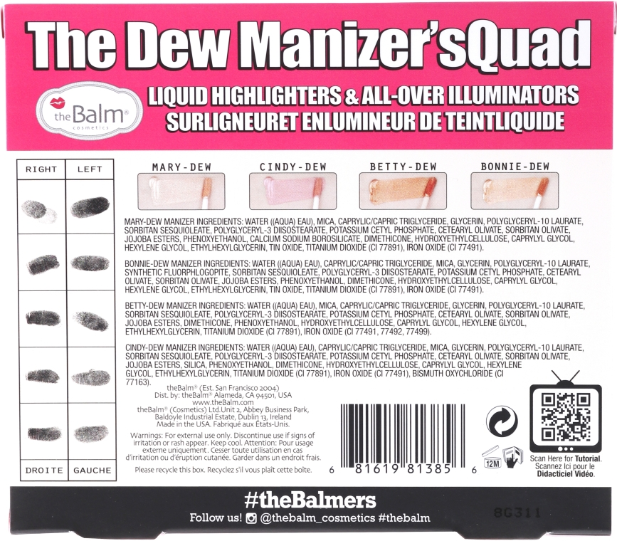 Set dermatografe lichide - theBalm Dew Manizer Squad Mini Kit (8.4 ml) — Imagine N2
