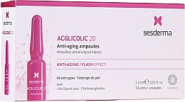 Духи, Парфюмерия, косметика Fiole anti-îmbătrânire cu acid glicolic - SesDerma Laboratories Acglicolic Anti-Aging Flash Effect Ampoules